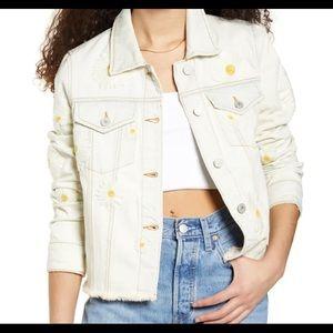 Free people daisy denim jacket